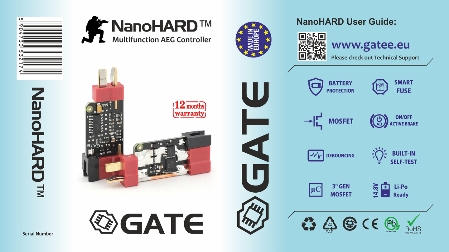 Gate Nano Hard Multifunctional Mosfet Next Gen Airsoft Mosfet Power Control